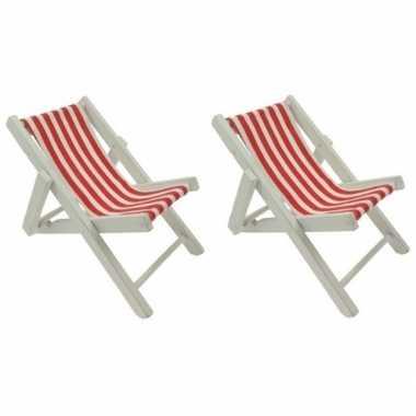 2x poppen strandstoel