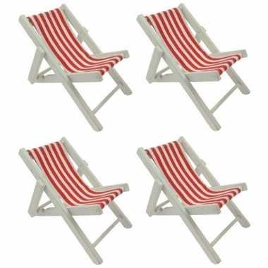 4x poppen strandstoel
