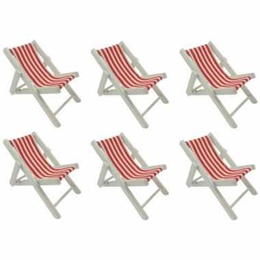 6x poppen strandstoel
