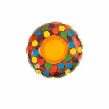Donut opblaas zwembandje bruin voor poppen
