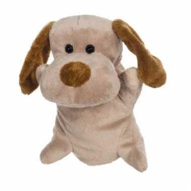 Pluche honden handpoppen 24 cm