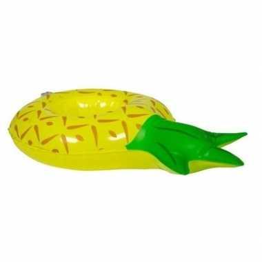 Poppen/knuffel opblaas zwemband ananas 27 cm