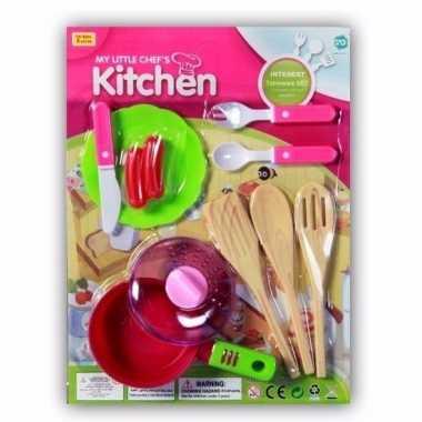 Poppen speelgoed keuken gerei 10 delig