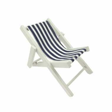 Poppen strandstoel blauw