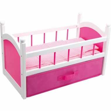 Roze poppenbed 52 cm