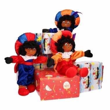Sinterklaas decoratie pieten poppen 3 stuks