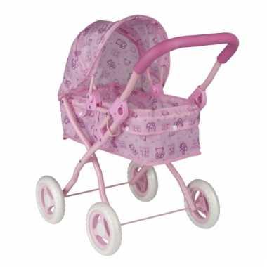 Speel kinderwagen voor poppen roze