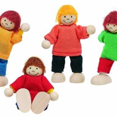 Vier buigbare poppen